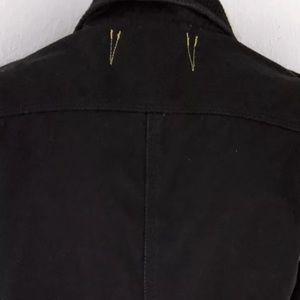 Fox Jackets & Coats - FOX BLACK PLAID TRIM CARGO JACKET USA SZ S